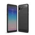 Galaxy A8 Star, A9 Star Dark Ultra Koruma Karbon Fiber Doku Silikon Kılıf