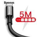 BASEUS NYLON 5 METRE  2.0A HIZLI İPHONE İÇİN USB ŞARJ KABLOSU