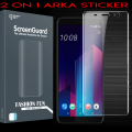 GOR HTC U11+ PLUS 3D KAVİSLİ FULL EKRAN KORUYUCU 2 ADET SET 1 ARKA STİCKER