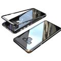 Sm Galaxy Note 9 Mıknatıslı 360 Koruma Arkası Cam Metal Frame Kılıf