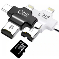 Card Reader 4in1 Type-C- İphone Lightning-Micro Usb Hafıza Kart Okuyucu