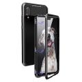 Huawei P20 Lite,Nova 3e Mıknatıslı 360 Koruma Arkası Cam Metal Frame Kılıf
