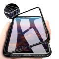 Huawei Mate 20 Lite Mıknatıslı 360 Koruma Arkası Cam Metal Frame Kılıf