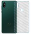 Ally Xiaomi Mi Mix 3 Şeffaf Karbon Fiber Kaplama Sticker