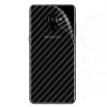 Ally Samsung Galaxy A6 2018 Şeffaf Karbon Fiber Kaplama Sticker
