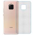 Huawei Mate 20 Pro Şeffaf Karbon Fiber Kaplama Sticker