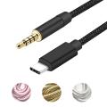 Ally Halat Usb Type-C To 3.5mm Aux Kablo Type C Araç Muzik Kablosu