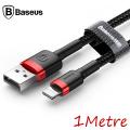 Baseus İphone 6,7,8,Xs,Xr 1metre 2.4a Hızlı Şarj Halat Usb Kablo