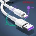 BASEUS CATSH METE 20 PRO S9P S10 USB TYPE C 5A SÜPER ŞARJ 2M