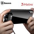 Baseus Suction Cup 3m 1.5a Hızlı İphone İçin Oyuncu Usb Kablosu