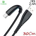 Floveme Usb Type C 2.4a Hızlı Şarj 30cm Kısa Şarj Usb Kablo