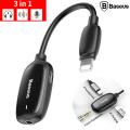 Baseus L51 3in1 İphone Şarj,Kulaklık Ve 3.5 Jack Kulaklık Adeptörü