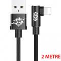 Baseus Mvp Elbow İphone Xs.Xr.Xs Max 7-8 Oyuncu Usb Kablo 2 Metre