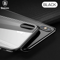 Baseus İphone Xs Max 6.5 Arkası Cam Yanları Silikon Kılıf Darbe Emici