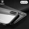 Baseus İphone X, Xs Arkası Cam Yanları Silikon Kılıf Darbe Emici