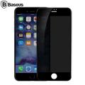 Baseus İphone 7-8 Plus Anti-Spy Gizlilik 3d Full Kırılmaz Cam Ekran Koruyucu