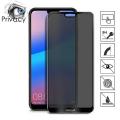 Huawei P20 3d Privacy Gizlilik 3d Full Kırılmaz Cam Koruyucu Anti-Spy