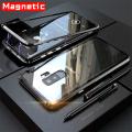 Ally Galaxy S9+plus Mıknatıslı 360 Koruma Arkası Cam Metal Frame Kılıf