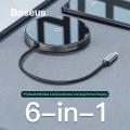 Baseus Circular Mirror Wireless Kablosuz Şarj+hdmi+usb 3.0 Hub