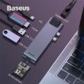 Baseus Thunderbolt 7 İn1 Type C,Ethernet,Hdmi Usb 3.0,Sd,Hub Çoğaltıcı Adeptör