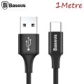 Baseus Led Işıklı Usb Type C Rapid Seris 1mm 2.0a Şarj Usb Kablosu