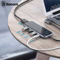 Baseus Multi-functional HUB (Type-C to 3xUSB3.0+HD4K+PD) Adeptör