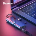 Baseus Almighty HUB Type C HDMI 3x USB 3.0 RJ45 TF-SD Çoğaltıcı Adeptör