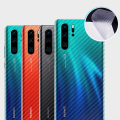 Huawei P30 Pro Şeffaf Karbon Fiber Kaplama Sticker