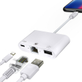 İPhone-İPad 3İN1 Ethernet RJ45 Ve Usb Kamera Adaptörü NK107
