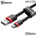 Baseus Cafule Micro Usb 3metre Uzun Halat Usb Şarj Kablo