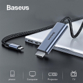 Baseus Type C To HDMI 4K 60Hz FHD HDMI Kablosu 60W PD Şarj Desteği
