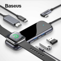 Baseus Multifunctional HUB (Type-C to 2 x USB3.0+HDMI+ PD+ iWatch Wireless Şarj