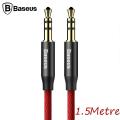 Baseus Yiven M30 3.5mm Aux Kablo 1.5 metre Halat Aux Kablo