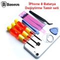 Baseus İPhone 7,8 Batarya Değiştirme Tamir seti