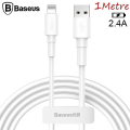 Baseus Mini White İPhone Lightning 2.4AŞarj Usb Kablosu 1metre