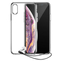 Baseus Transparent Key iPhone XS Max El İpi Tutmalı Silikon Kılıf
