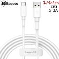 Baseus Mini White USB Type-C 3.0A Hızlı Şarj Usb Kablosu 1metre