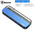 Baseus Transparent Series Çok Fonksiyonlu Usb Hub (Type-C to Type-C*2+USB3.0*2+4K HD*1)