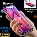 Baseus İPhone 11 Pro- X-XS 3D Full Anti Blue Light Kırılmaz Cam Koruyucu 2 Adet Set