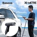 Baseus 30 Metre Sihirli Araç Yıkama Bahçe Sulama Hortumu Simple Life Car Wash Spray Nozzle