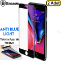 Baseus İPhone 7- 8 Full Kırılmaz Cam Ekran Koruyucu Anti blue Light  2 Adet Set