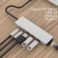 Ally Usb (Type-C to 6in1 Hdtv 2XUSB+PD) RJ45 Hub Adaptör Çoklayıcı