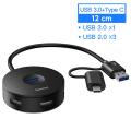 BASEUS Round Box 4in1 (Type-C+ USB3.0*1+USB2.0*3) HUB Adaptör 12cm