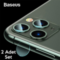 Baseus iPhone 11 Pro 11 Pro Max Tempered Kamera Lens Koruma Camı 2Set