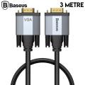 Baseus Enjoyment 1080P VGA To VGA Kablo Monitör Projeksiyon Kablosu 3Metre