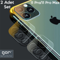 GOR İPhone 11 Pro-İPhone 11 Pro Max Tempered Kamera Koruma Cam 2adet Set