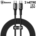 Baseus halo data cable hızlı Şarj Usb Type-C PD2.0 60W (20V 3A) 2metre