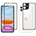 İPhone 11 6.1 Metal Çerçeve Ön Arka 3D Full Tempered Cam Koruyucu