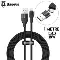 Baseus 2in1 Dual Output Cable-USB-A+Type-C İPhone 18W Hızlı Şarj Usb Kablo 1m