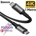 Baseus Cafule series USB Type-C PD3.1 Gen2 100W(20V-5A) Usb Şarj Kablosu 1metre